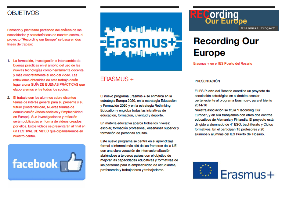 DISSEMINATION - RECORDING OUR EUROPE WEB